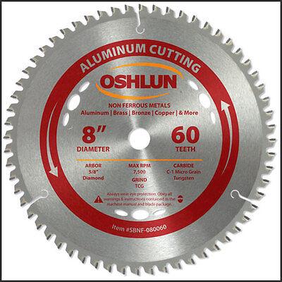 Oshlun Sbnf-080060  8 X 60t Aluminum Cutting Saw Blade