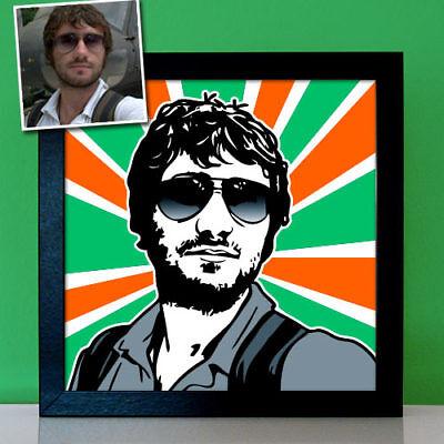 Personalisierte coole Geschenke für Männer Freund Ihn Pop Art Bild nach