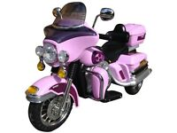 12 volt Harley Davidson Electra Glide electric ride on (in pink)