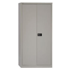 Lockable Grey Metal/Steel Storage Cupboard/Cabinet (Offices/Garages/Stationery)