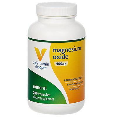 The Vitamin Shoppe Magnesium Oxide 400 Mg   200 Capsules