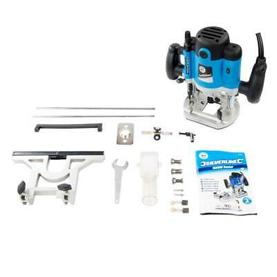 """Plunge Router 1500W 1/2"""" Multipurpose Electric 240V Silverstorm 0-50mm Fine"""