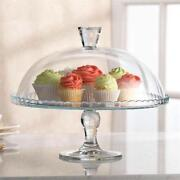 Glass Cake Plate Dome