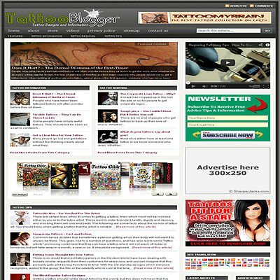 Established Tattoo Affiliate Website Turnkey Business For Sale Free Hosting