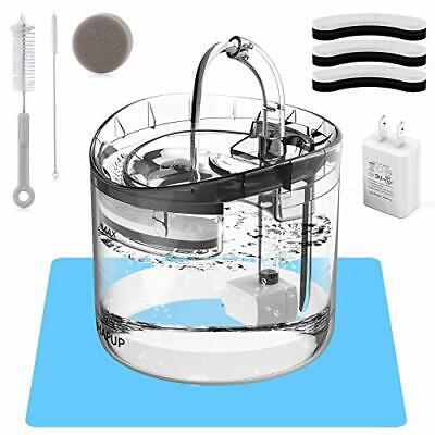 Fuente de agua para gatos Dispensador de agua para perros 61Oz / 1.8L Fuente ...