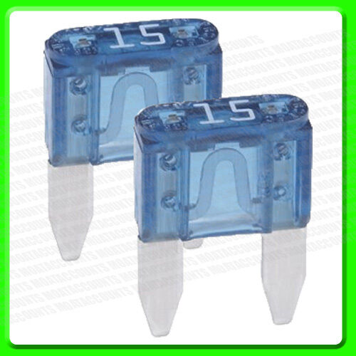 A Pack of 2 , 15 Amp Mini Blade Fuses [PWN500]                               2LL