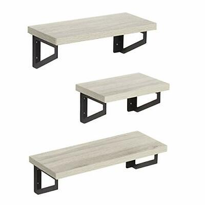 Floating Shelves Made of MDF – Wall Mounted – Pack of 3 Bookcases & Shelving