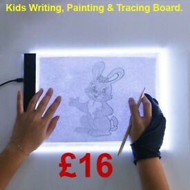 KIDS TRACING, WRITING AND PAINTING BOARD WITH ADJUSTABLE BRIGHTNESS