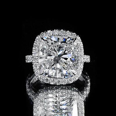 2.90ct GIA 18K White Gold Cushion Diamond Engagement Ring H/VS2 (2141567947)