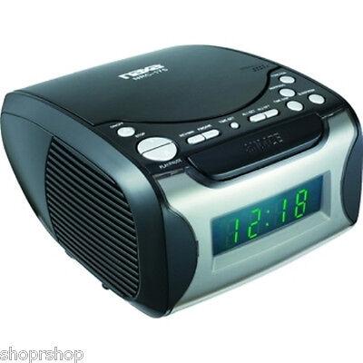 Naxa NRC-175 Digital Alarm Clock with Digital Tuning AM-FM Radio & CD Player