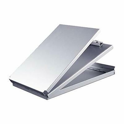 Aluminum Clipboard With Storage Memo Size Recycled Metal Form Holder Binder
