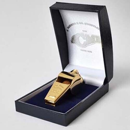 Acme Thunderer Whistle 60.5 Gold with presentation Box