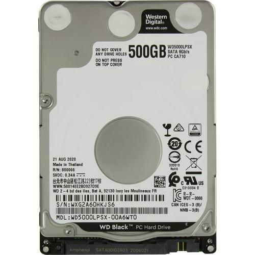 """WD Black WD5000LPSX 500GB 7200 RPM  SATA 6.0Gb/s 2.5"""" Internal Hard Drive HDD"""