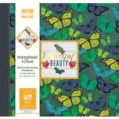 Botanical Beauty Scrapbook Craft Memory Photo Snapload Album 12x12