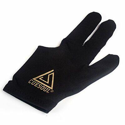 10pcs / Set Guantes De Billar de 3 dedos guantes de taco de billar negro