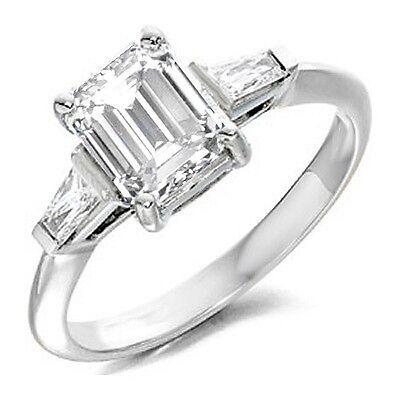 1.80 Ct. Emerald Cut Diamond Prong 14K Engagement Ring GIA Certified G,VS1
