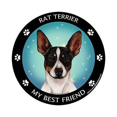 My Rat Terrier Is My Best Friend Dog Car Magnet