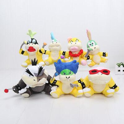 "Koopalings Super Mario Bros 7"" Koopa Plush Toy Stuffed Doll Kids Gift USA Seller"