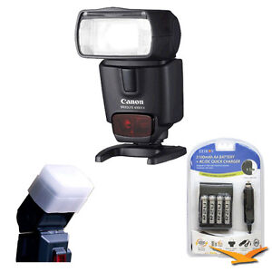 Canon 430EX II EOS Speedlite Flash w/ Rechargeable battery Kit and Diffuser