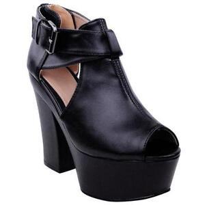Black Leather Wedge Sandals 767bfb8900eb