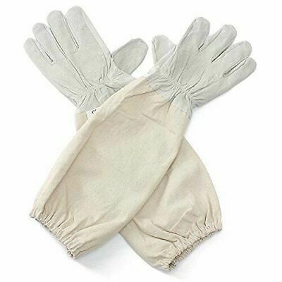 Soft Xl Goat Leather Beekeeping Gloves With Vented Sleeves 1 Pair X Large