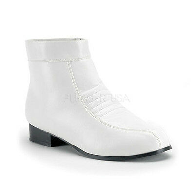 White Storm Trooper Star Wars Mens Boots Disco 70s Pimp Costume Shoes 11 12 13 (White Storm Costume)
