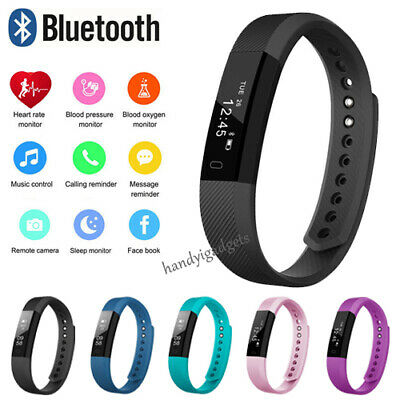 Bluetooth Smart Fit bit watch Heart Rate Blood Pressure Monitor Fitness Tracker