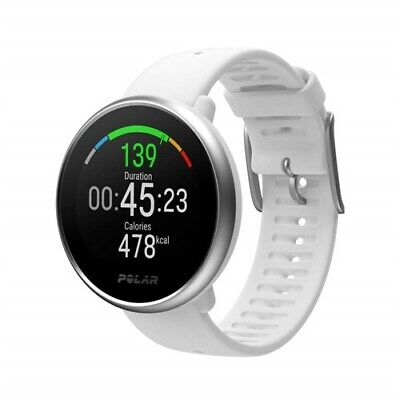 Polar Ignite Training Computer GPS Fitness Watch  White/Silver-S
