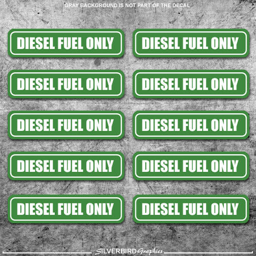 Owner 10x Diesel Fuel Only sticker door  gasoline gas decal / truck / label tank vinyl