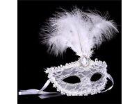 Halloween Fancy Dress Mask Masquerade Luxury Mask Feather Venetian Mask