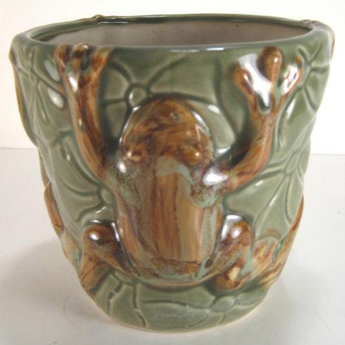 Ceramic Frog Planter Ebay