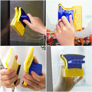 Magnetic Window Double Side Glass Useful Cleaner Cleaning Brush Pad Car UK Free