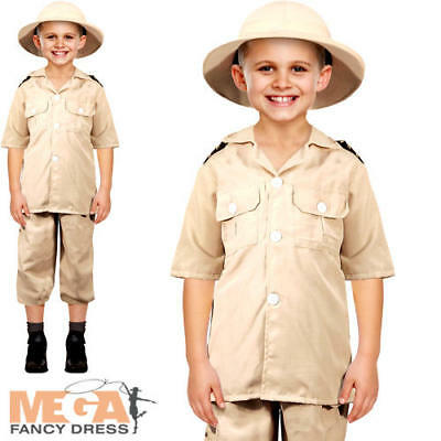 Safari Explorer Boys Fancy Dress Jungle Zoo Keeper Uniform Kids Childs - Children's Zoo Keeper Costume