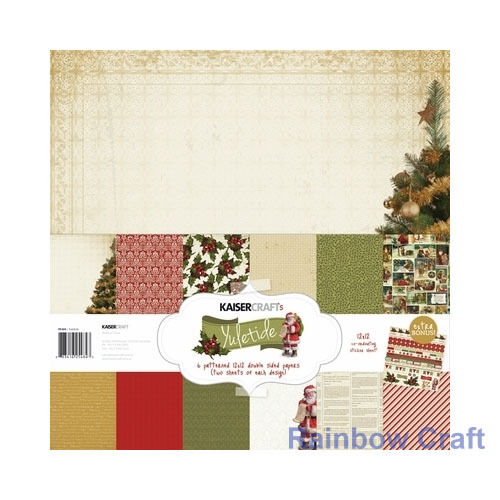 Kaisercraft Paper Pack Bonus Sticker Sheet Christmas Carol Secret garden - Yuletide