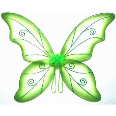 Green Adult Dress Up Fantasy Butterfly Fairy Wings Tinkerbell Womens Costume ](Adult Green Fairy Costume)