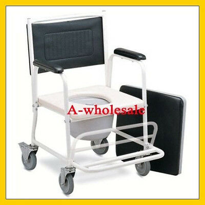 2-in-1 Shower Wheel Chair With Locking Wheels For Junior,...