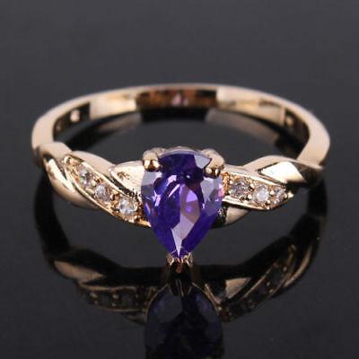 Ring 54 56 Fingerring gold plattiert vergoldet Stein Goldring