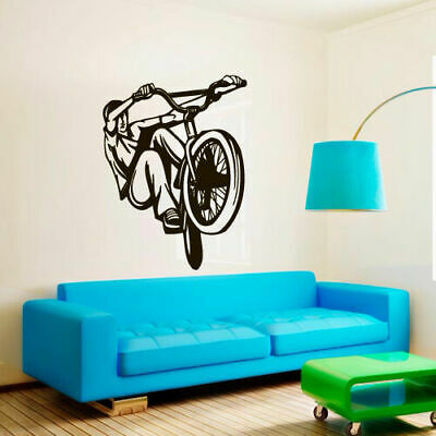Wall Decal BMX Rider Sticker Bike Bicycle X Games Racing Cycle Jump Teen M1651 for sale  Virginia Beach