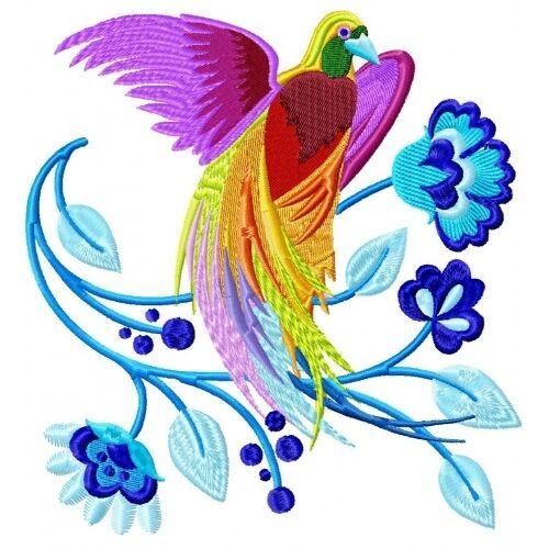 Embroidered Sweatshirt - Delicate Birds PE06