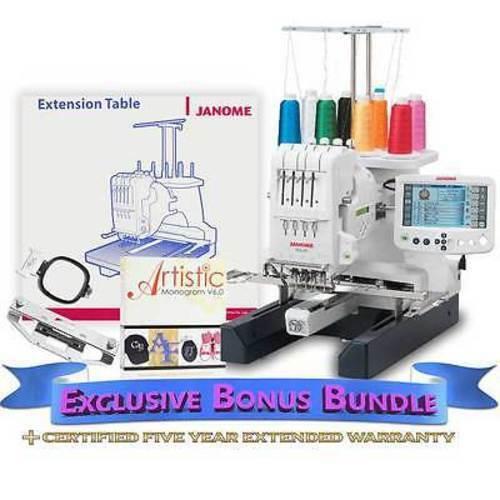 Janome MB-4S Four Needle Embroidery Machine+Exclusive Bonus Bundle