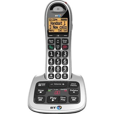 BT 4500 SINGLE DIGITAL CORDLESS HOME PHONE BIG BUTTON & ANSWER PHONE & HANDSFREE