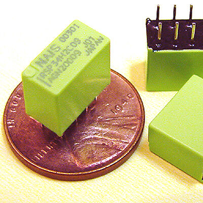 10 Sub-miniature Dpdt Relay - Operates On 9 To 13.5 Vdc