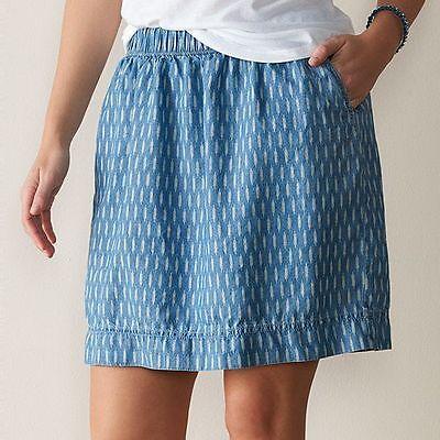 Sonoma skirt womens 2X pull on mini new elastic waist linen pattern B4/F8/L5