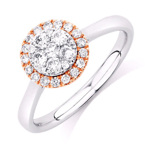 ENGAGEMENT RING WITH 1/2 CARAT TW OF DIAMONDS IN 10KT ROSE & WHI