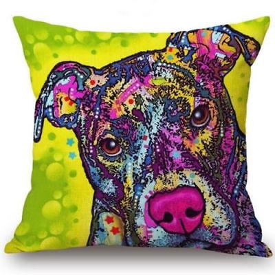 Staffordshire Bull Terrier Dog Cushion Cover 16x16 inch 40cm Tan Staffie Staffy