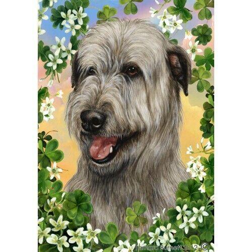 Clover House Flag - Grey Irish Wolfhound 31329