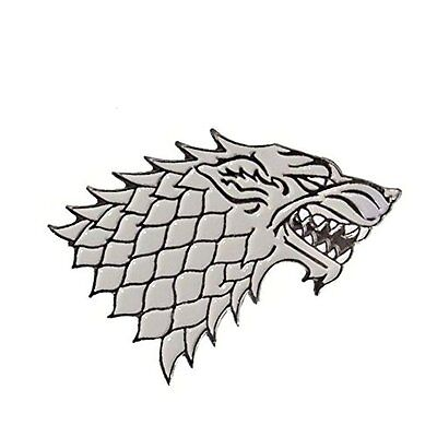 Game of Thrones House Stark Jon Snow Winter is Coming GOT Dire Wolf Enamel Pin