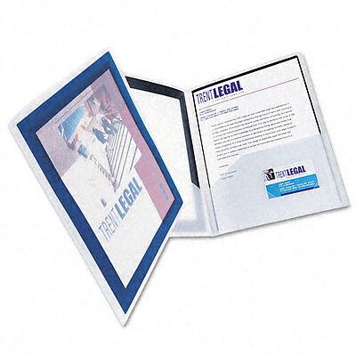 Flexi View 2 Pocket Folders - New Flexi-View Avery Two-Pocket Folder Navy (2pk) - 47846 - Free Shipping