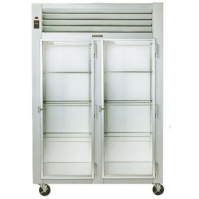 Traulsen G21012-032 2 Section Reach-in Display Refrigerator- Hinged Rightright