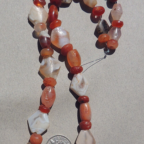 a 16.5 inch 42 cm strand ancient agate african stone beads mali #3921